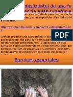 Barniz antideslizante