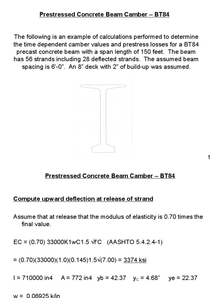 Bob_BT84 Camber Power Point | Beam (Structure) | Chemical