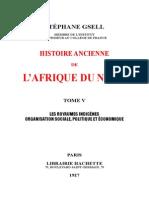 histoire Ancienne de l'Afrique Du Nord]