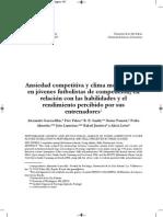Ansiedad Competitiva y Clima Motivacional