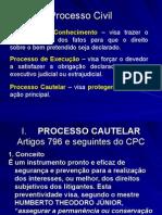 Processo Cautelar e Procedimentos Especiais1