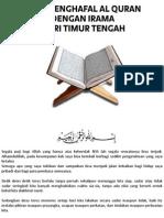 Cara Menghafal Al Qur'an Irama Qori Timur Tengah