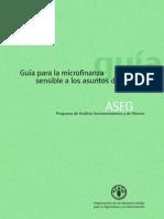 Guia Para La Microfinanza Con Genero