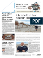 Asbury Park Press front page Monday, Nov. 9 2015