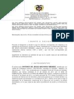 11187 y 12278- Ley 906 - Acumulacion - Antonio Jesús Machado Méndez- Julio 12- 2013
