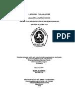Analisa Kadar Flavonoid Dalam Ekstrak Mahkota Dewa Menggunakan Spektrofotometer