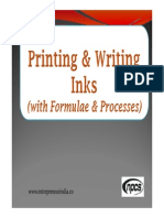 Printing and Writing Inks with Formulae and Processes