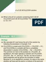 7-Sample Problems - Acid-Base Equilibria