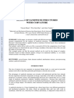 Design of Sandwich Structures With Curvature