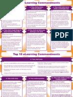 top 10 elearning commandments a4 landscape