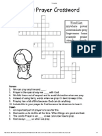 Lords Prayer Crossword