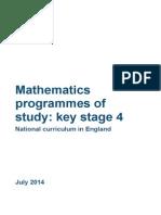 Ks4 Maths Pos Final 170714