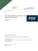 The Tarab Trombone- Trombone Etudes and Solos Based on Arabic Mus