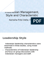 Indonesian Management, Style and Characteristic