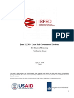 First Interim Report_ISFED Eng 2014