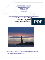 2016 NYC Packet Without Itinerary