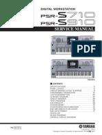 Yamaha PSR-S710 S910 Service manual