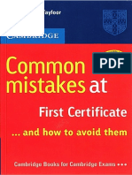 Common Mistakes at FCE. Susan Tayfoor (Cambridge).