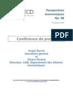 Prévisions de la croissance mondiale de l'OCDE
