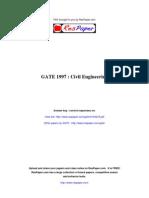 ResPaper GATE 1997 Civil Engineering