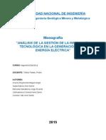 Análisis de La Gestión de La Innovación Tecnológica en La Generación de La Energía Eléctrica