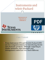 Case Study Management Control Texas Instruments and Hewlett Packard