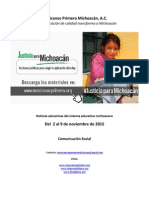 Noticias del Sistema Educativo Michoacano al 09.11.2015