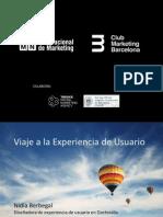 Masterclass IIMN - Viaje a la Experiencia de Usuario UX - por Nídia Berbegal