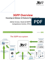 3GPP Overview - Focussing on Release 12 Features for Small Cells