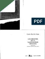 Los Origenes de La Nacionalidad. Carlos Real de Azúa