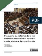 Reforma del sistema electoral basada en el sistema danés sin tocar la Constitución
