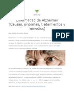 PDFEnfermedad de Alzheimer (Causas, síntomas, tratamientos y remedios)