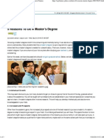 6 Reasons to Do a Master's Degree