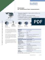 BurkertFlowmeterDS8012 Standard EU En