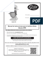 Globe Sp8 Spanish Owners Manual