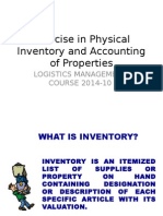 Exercise in Physical Inventory LMC 2014