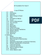 Class 3 ICSE Science Syllabus