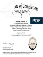 Complementary and Alternative Medicine Online Continuing Education Series