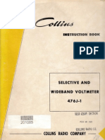 Collins 476J-1 Selective Wide Voltmeter Manual - 15 September 1959 Revised 10-15-1960 - 520 5199 00