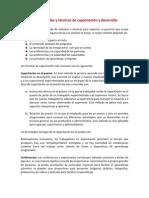 Metodos y Tecnicas de Capacitacion y Desarrollo
