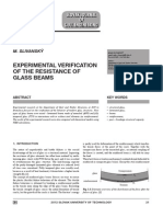 EXPERIMENTAL VERIFICATION OF THE RESISTANCE OF GLASS BEAMS