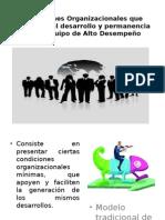 Condiciones Organizacionales Que Favorecen El Desarrollo y Permanencia- Luis Flores