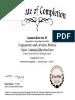 Probiotics Certificate