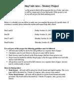 Unit Rate Project 2015