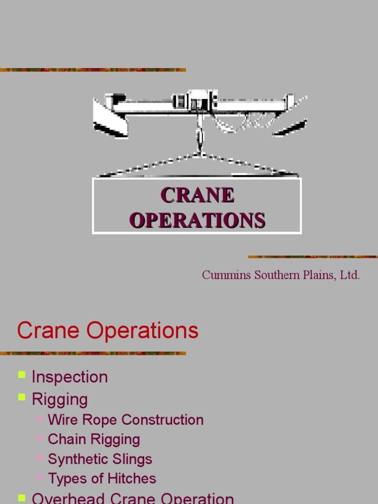 Crane Operations   Crane (Machine)   Rope