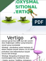 BENIGN PAROXYSMAL POSITIONAL VERTIGO.ppt