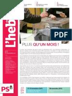 """L'Hebdo des socialistes n°799 """"Plus qu'un mois !"""""""