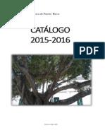 CATÁLOGO 2015-2016