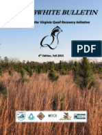 THE BOBWHITE BULLETIN - 2015 Update on the Virginia Quail Recovery Initiative