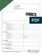 Comelit 4784 Data Sheet